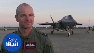 Pilot tells of pride as new F-35 jets touch down on UK soil
