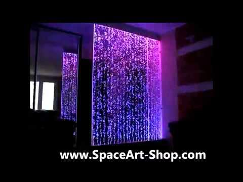 Pared con agua y burbujas de aire spaceart youtube - Paredes de agua para interiores ...