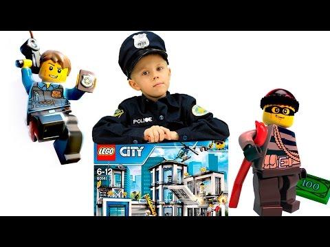ЛЕГО СИТИ ПОЛИЦИЯ Все серии подряд ЛЕГО ПОЛИЦЕЙСКИЕ и Даник против ЛЕГО ГРАБИТЕЛЕЙ. Lego City POLICE