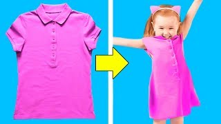 12 CHEAP CLOTHING HACKS FOR PARENTS AND THEIR KIDS