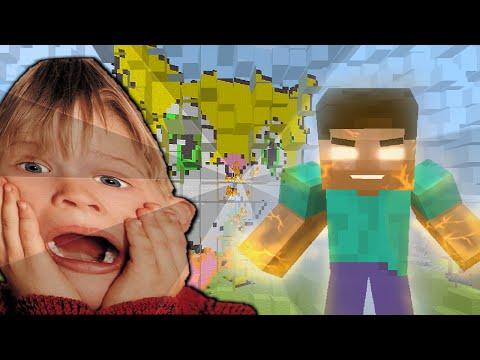 Minecraft: Trolling a Squeaker 19 Herobrines Destorying My World