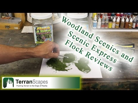 TerranScapes - Woodland Scenic and Scenic Express Flock Review