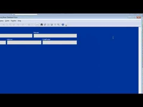 Cours vidéo OpenOffice Base 6 - Créer un formulaire simple