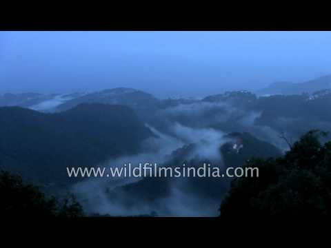 Misty hills en route Lamkhaga Pass, Himachal Pradesh