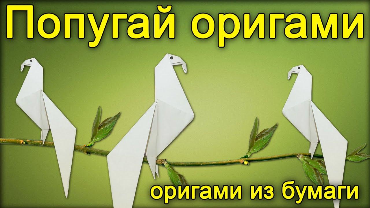 Оригами как сделать попугая из бумаги