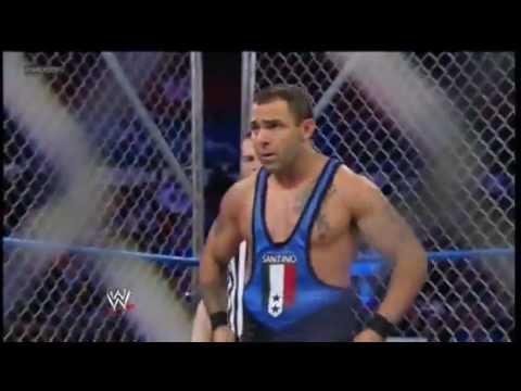 WWE Smackdown 3/9/12 - Santino Marella vs. Jack Swagger Steel Cage Match!