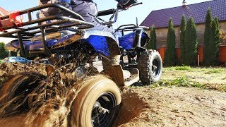 УТОПИЛ Квадроцикл в БОЛОТЕ! Stuck in the mud Ride on POWER WHEEL