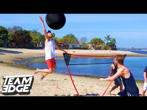 GIANT BEACH VOLLEYBALL CHALLENGE!! |  Edge Games [Day 2]