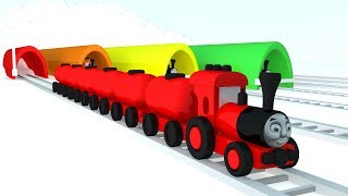Learn Colors with Thomas & Friends Toy Trains | KO KO KIDS TV