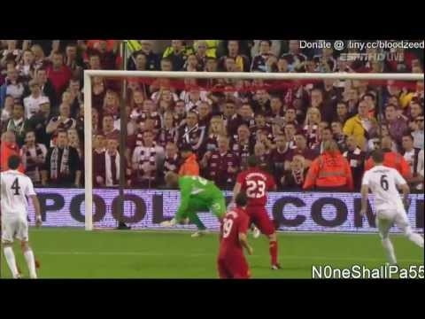 Goalkeeping howler by Pepe Reina against Hearts (30th August, 2012, HD)