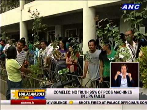 Comelec: No truth 95% of PCOS machines in Lipa failed
