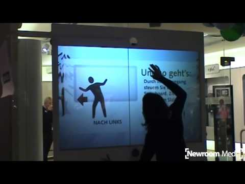 Interaktives Schaufenster - Air Touch Window