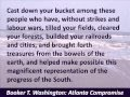 Booker T. Washington - Atlanta Compromise Speech - Cast down your bucket - Hear the Full Text