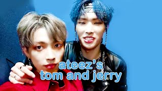 mingi and hongjoong are ateezs tom and jerry