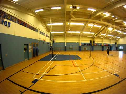 Badminton with Roger Snook in Canadian Forces Base -Gander