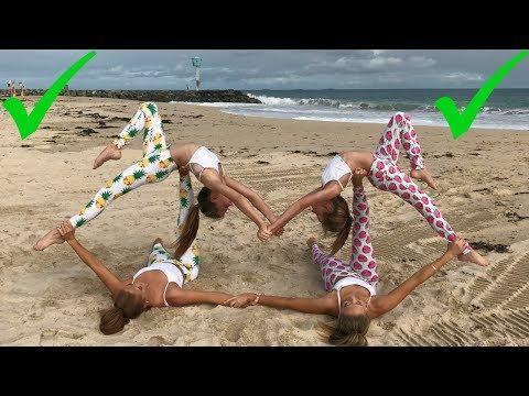 Extreme Yoga Challenge Big sisters vs Little sisters | The Rybka Twins thumbnail