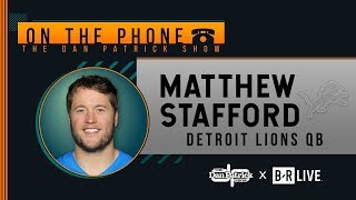 Matt Stafford Talks Lions' 1-0-1 Start, Eli Benching & More w/Dan Patrick | Full Interview | 9/17/19