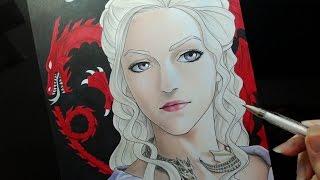 Speed Drawing - Daenerys Targeryen (Game Of Thrones) - Manga Version
