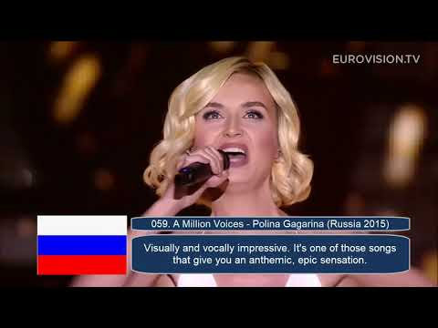 My Top 100 Eurovision Entries (2010-2019)