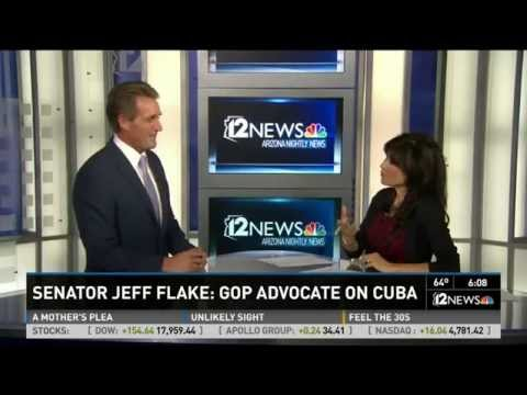 Sen. Flake Discusses Support of New Cuba Policy on 12 News