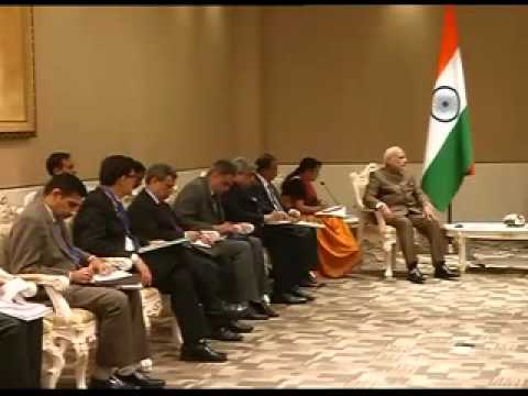PM Modi meets Russian PM Dmitry Medvedev at the 9th East Asia Summit