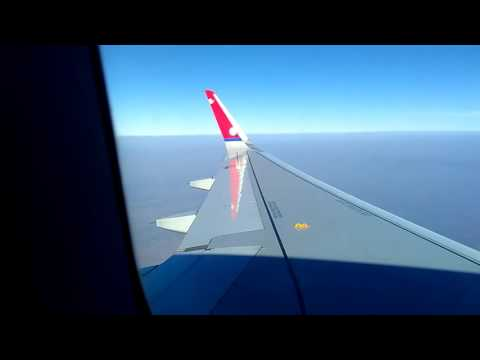 Nepal Airlines RA205 Airbus A320 flying on the sky en route to Mumbai from Kathmandu on 22 Jan 2016