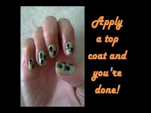 Easy, quick and cute paw print nails tutorial