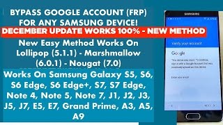 [EASY STEPS] Bypass / Remove Google Account (FRP) For Any Samsung Galaxy Device | December Update
