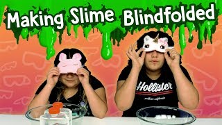 Izzy CHEATED!!! Blindfolded Slime Challenge!