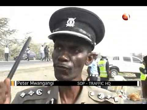 Traffic Along Mombasa - Nairobi Highway video
