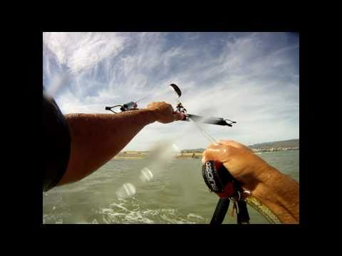 GO PRO 960p mount test (chest, fin, head) , Kiteboarding , Gran Canaria 2011