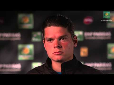2015 Milos Raonic Reacts After Beating Rafael Nadal