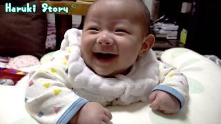 生後三ヶ月の赤ちゃん・首すわりの練習 - 日台ハーフ赤ちゃん・ハルキの成長記録