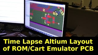 Time Lapse Layout of ROM/Cart Emulator PCB in Altium