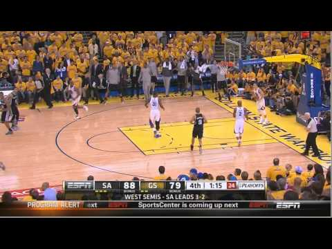 Tony Parker Dagger 3 pointer Spurs-Warriors Game 6