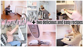 CLEAN WITH ME 2020 + 2 DELICIOUS & EASY DINNER RECIPES + COOK #WithMe // TIFFANI BEASTON HOMEMAKING