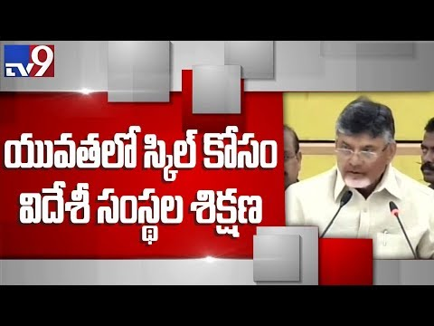 Our vision for skill development of Andhra Pradesh -  Chandrababu - TV9