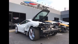 REBUILDING A WRECKED FERRARI 488 GTB FROM COPART PART 2