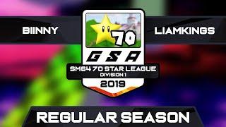 WD Biinny vs LiamKings   Regular Season   GSA SM64 70 Star League D1 Season 1