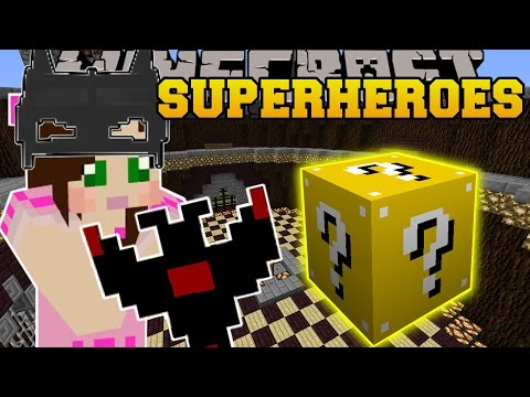 Minecraft: SUPERHEROES EXPLOSIVES CHALLENGE GAMES - Lucky Block Mod - Modded Mini-Game
