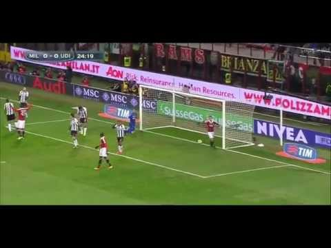 Mario Balotelli's very first goal at AC Milan 1-0 Udinese