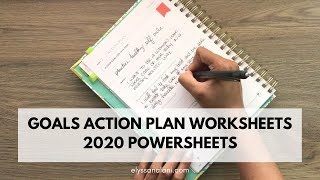 GOALS ACTION PLAN WORKSHEETS | 2020 POWERSHEETS