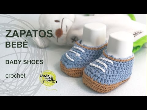 Tutorial Zapatos Bebé Crochet o Ganchillo