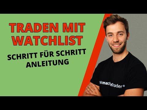 Effizienter traden mit einer Watchlist | Schritt für Schritt Anleitung