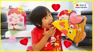 Kids Candy Surprise Valentine Day Haul Goodie with Ryan!