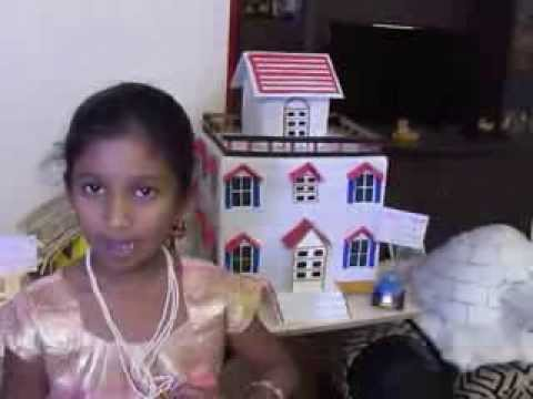 Siri Chandana explaining Types of Houses at Vikas the Concept school