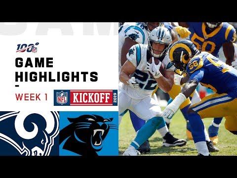 Rams vs. Panthers Week 1 Highlights  NFL 2019