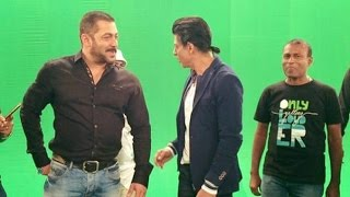 Pics Of Salman Shahrukh Shooting For Bigg Boss 9 Karan Arjun Promo