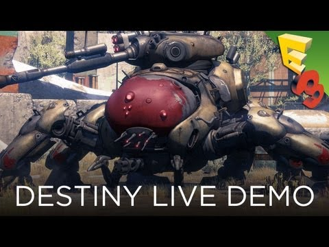 Destiny GAMEPLAY REVEALED! Live Demo Walkthrough from Sony's E3 2013 Press Conference