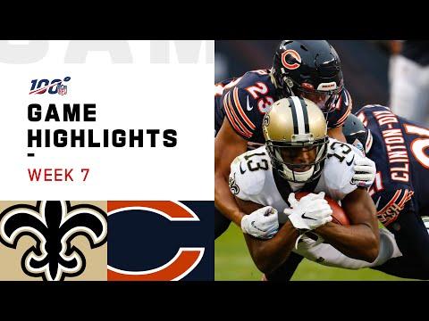 Saints vs. Bears Week 7 Highlights  NFL 2019
